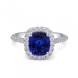Coast Diamond 2.05 carat Blue Sapphire halo diamond engagement ring_ 2787_0