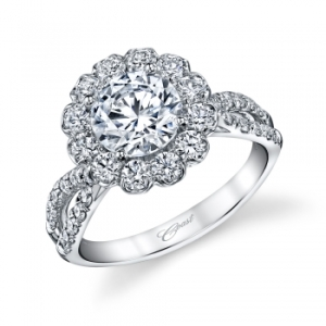 Coast Diamond Flower Engagement Ring 2758_0
