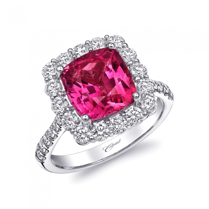 Coast Diamond Pink Sapphire Engagement Ring 2854_0