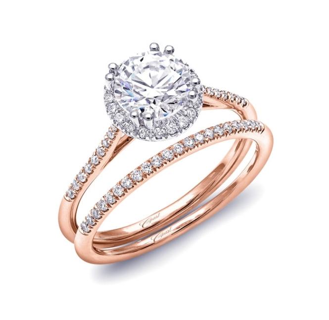 Coast Diamond Rose Gold Engagement Ring - 1 Carat Center Diamond - Martha Stewart Weddings 2485_0