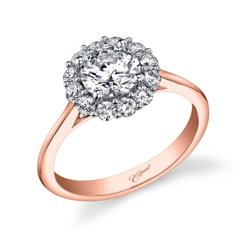 Coast Diamond Rose Gold Floral Rose Gold Engagement Ring