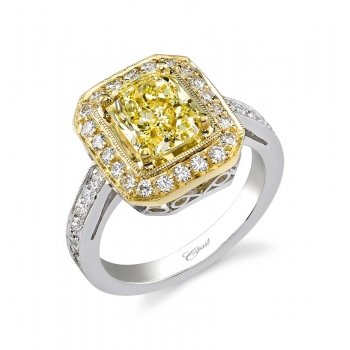 2.08 Carat Yellow Radiant Diamond Engagement Ring - Coast Diamond