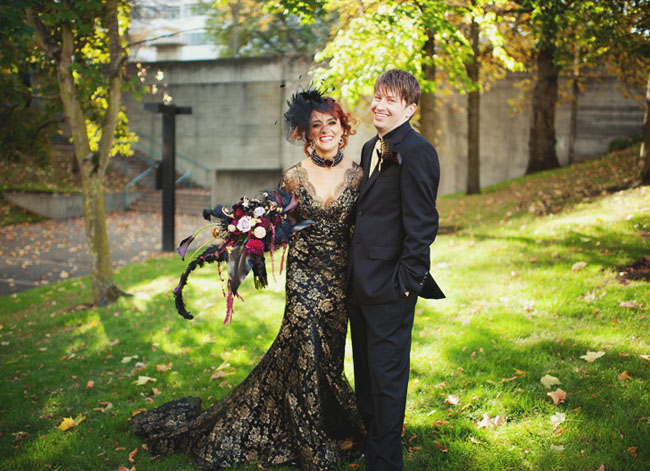 Spooktacular Black Wedding Dress