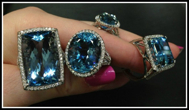 Coast Diamond Aquamarine Rings at Mervis Diamond Importers