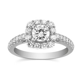 Classic Halo Engagement Ring with Round Center Diamond - Borsheims - 2GSAW0060