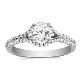 Unique Two Row Diamond Engagement Ring - Borsheims - 2GSCW0432