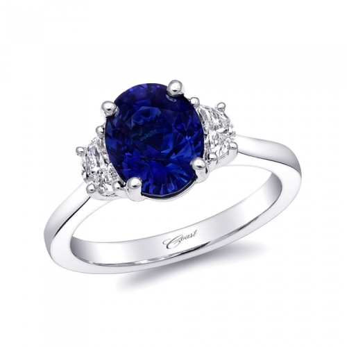 Engagement 101 - Coast Diamond Takeover Day 1: Oval Sapphire and Diamond Engagement Ring
