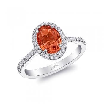Coast Diamond 1.78CT oval padparadscha sapphire