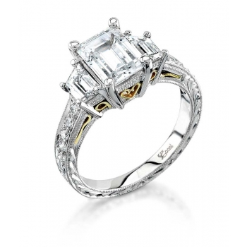 Coast Diamond Emerald Cut Engagement Ring - Similar to Engagement Ring Worn By Amal Alamuddin