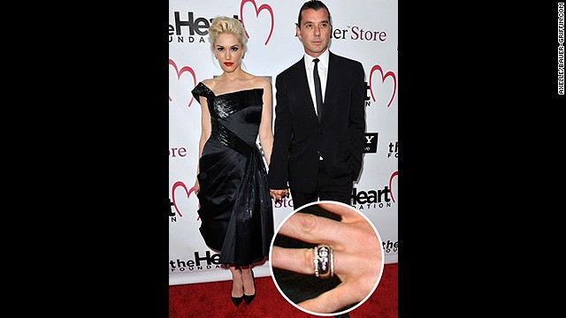 Gwen Stefani's First Engagement Ring (Image from CNN.com)