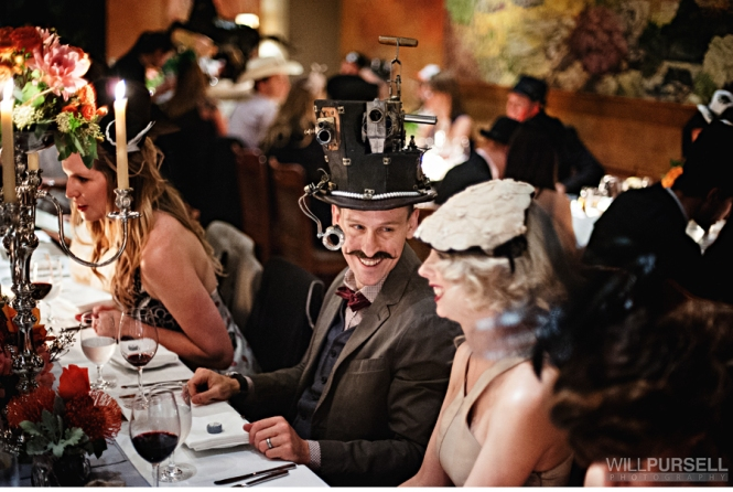 Halloween Steampunk Wedding Reception