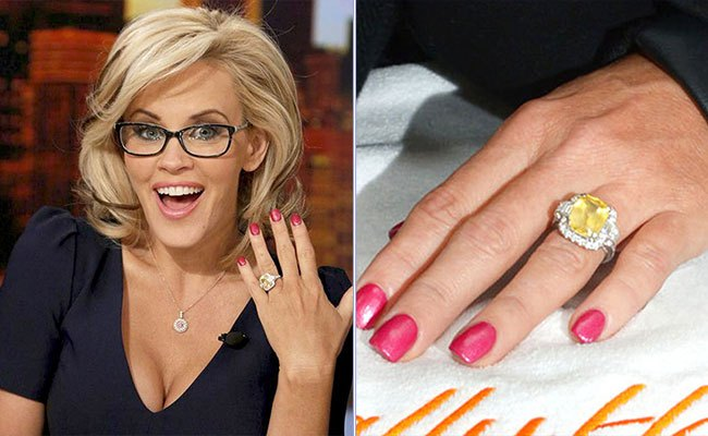 Jenny McCarthy Shows Off Gorgeous Yellow Sapphire Halo Engagement Ring
