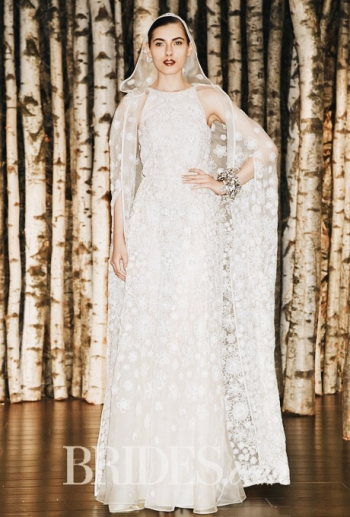 Intricate Wedding Gown with Cape