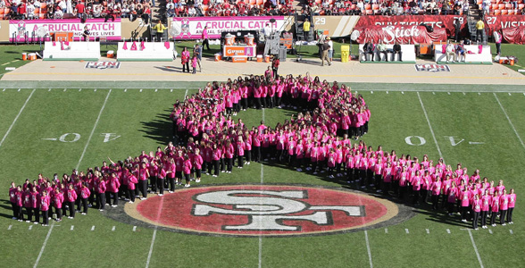 Survivors Take the Field at San Francisco 49ers Game - 2014