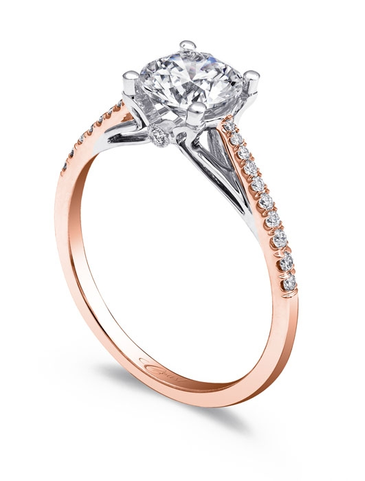 Coast Diamond Rose Gold Engagement Ring at Ganem Jewelers