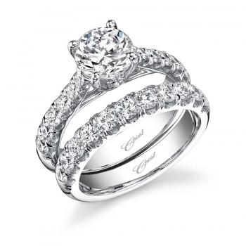 Coast Diamond wedding set (LZ5001H) graduated diamonds peek-a-boo diamond cathedral