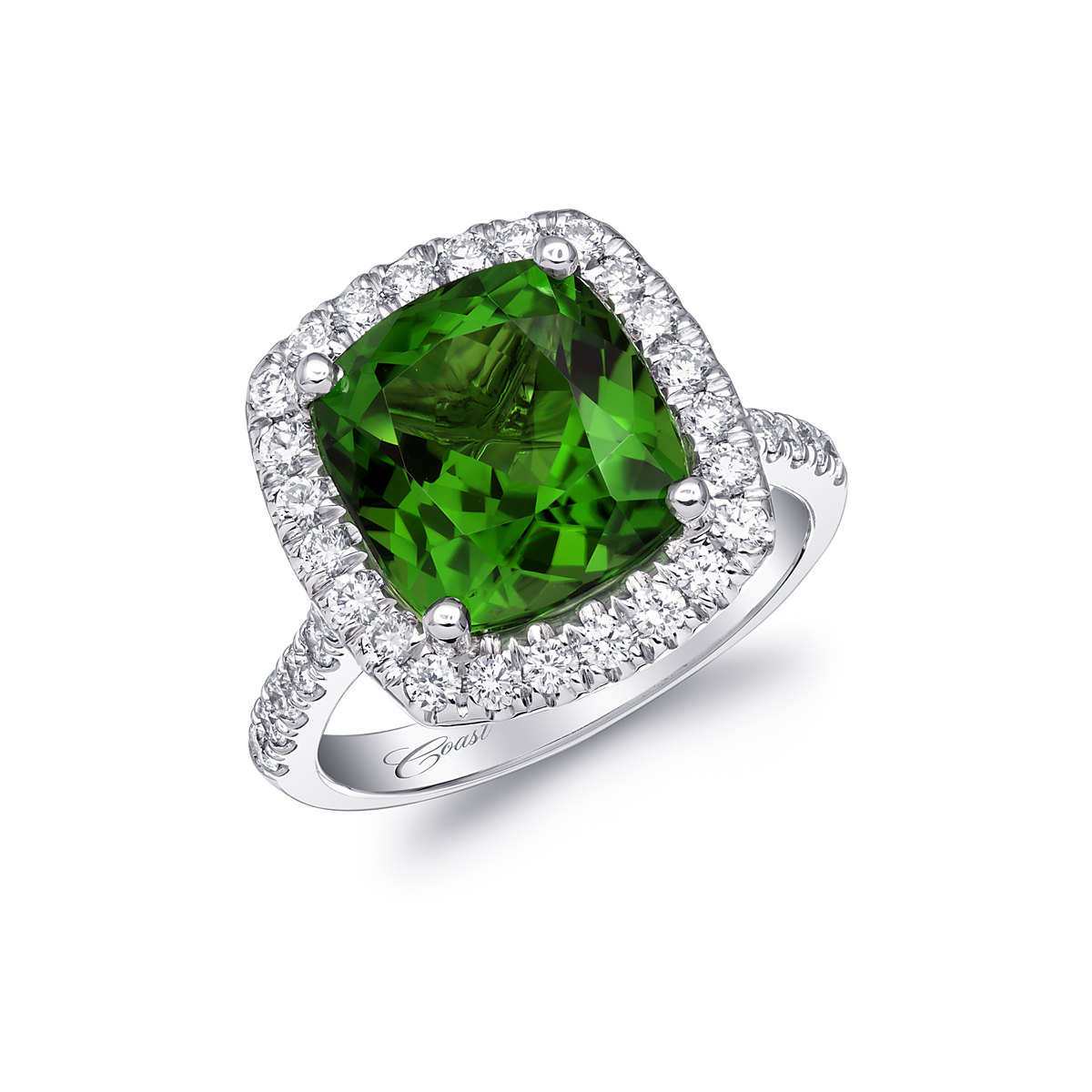 Coast Diamond Engagement Ring Of The Week 582 Carat Green Chrome Tourmaline Love Coast