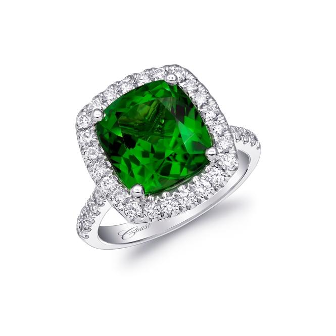 Coast-Diamond-Engagement-Ring-of-the-week-LCK10052-CHT-Green-Gemstone-Halo