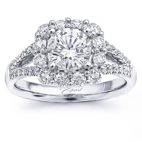 Coast Diamond Halo Engagement Ring at Diamonds Direct