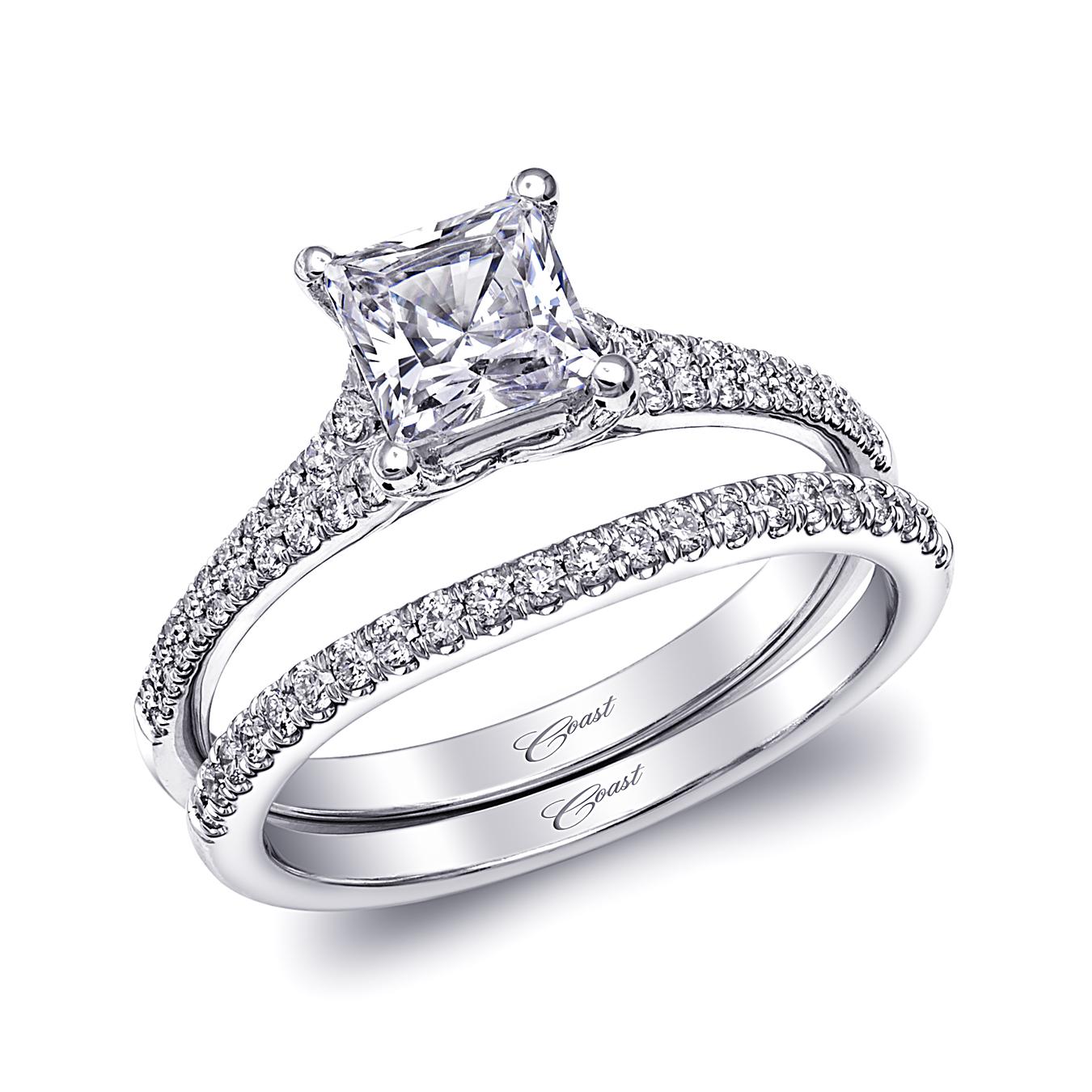 Engagement Rings Okc: Coast Diamond Princess Cut Diamond Split Band Engagement