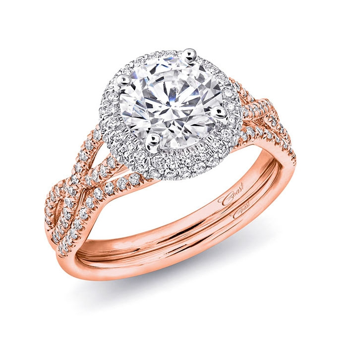Coast Diamond Engagement Ring of the Week Round Diamond Engagement Ring with