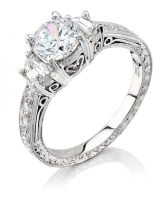 Coast-Diamond-Three-Stone-hand-engraved-Engagement-Ring-LP2291