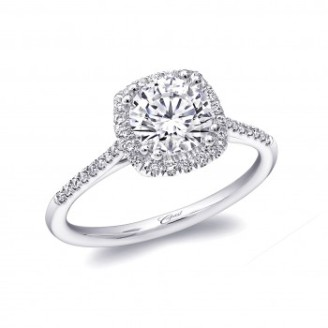 Coast Diamond delicate cushion shaped halo engagement ring LC5410