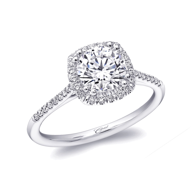 Coast Diamond Halo Engagement Ring (SKU LC5410)