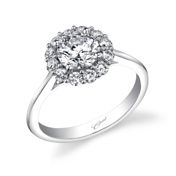 Coast Diamond 1CT halo engagement ring polished band