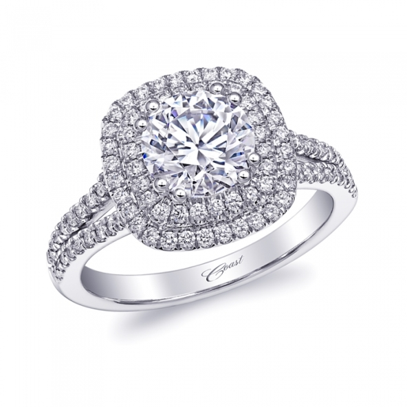 Coast Diamond Double-Halo Engagement Ring at Featured Retailer Boone & Sons