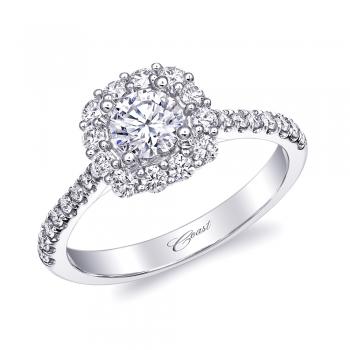Coast Diamond 1/2 Carat Halo Diamond Engagement Ring at Paul's Jewelry