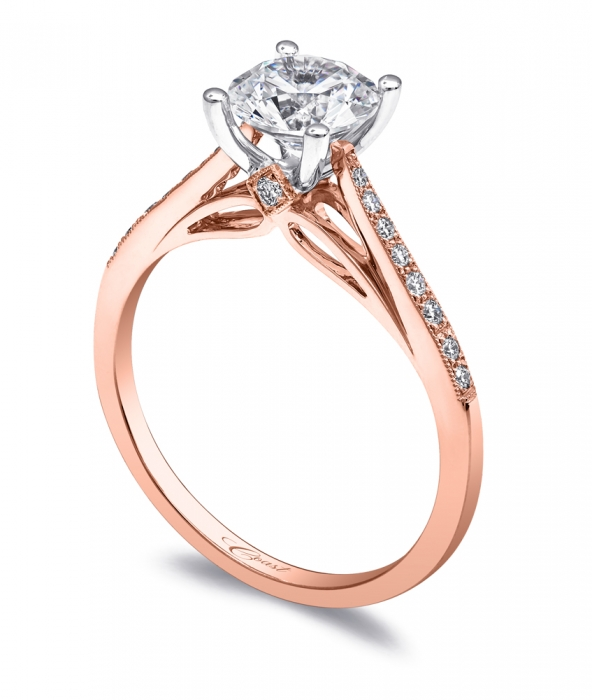 Rose Gold Engagement Ring at Coast Diamond Featured Retailer, Boone & Sons