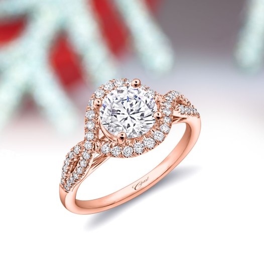 Coast Diamond Five Festive Rings: Brilliant 1.5 Carat Diamond and Rose Gold Engagement Ring