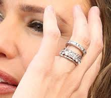 stackable wedding rings jennifer garner - Stacked Wedding Rings