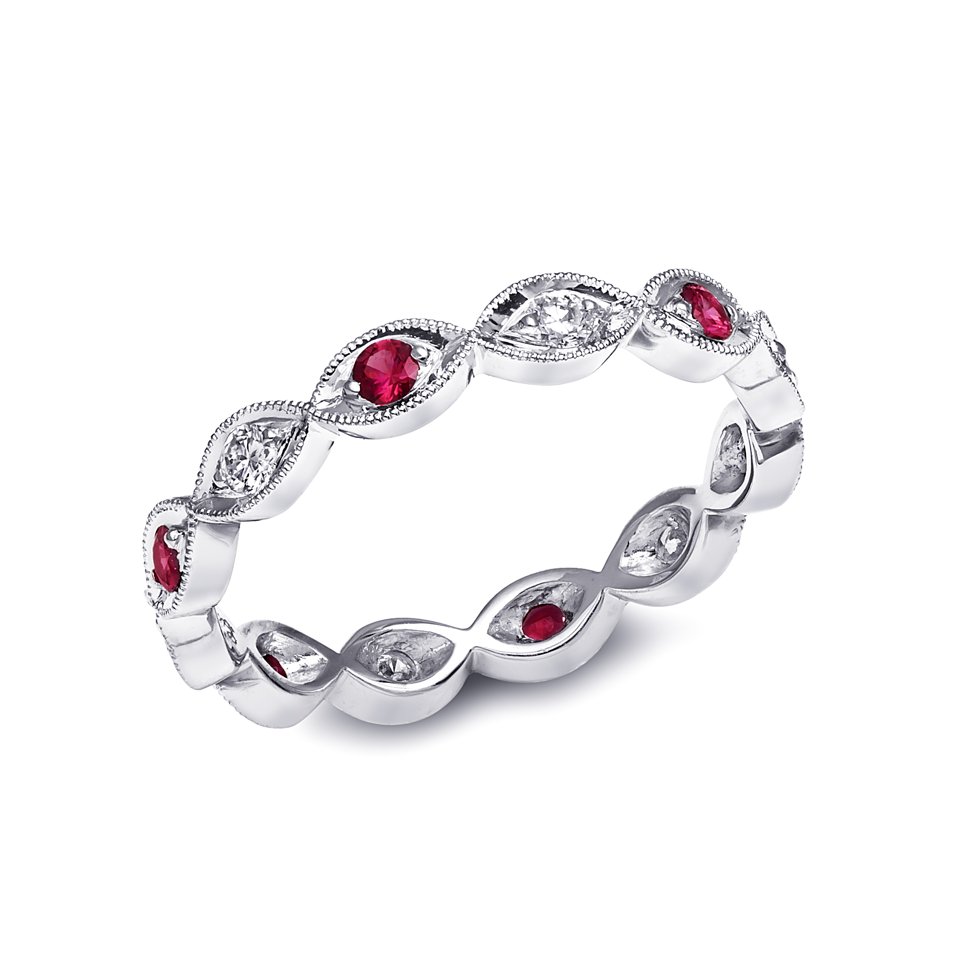 Coast Diamond stackable eternity band WC10177C-S Customize ruby