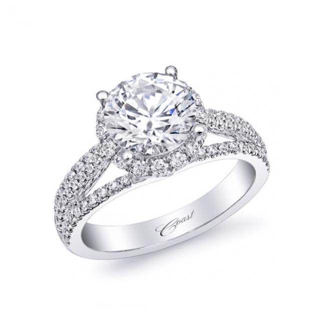 Coast Diamond 2 Carat Round Diamond Engagement Ring