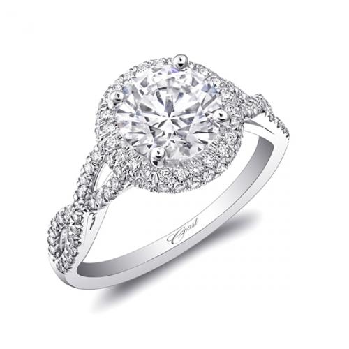 Coast Diamond Halo Engagement Ring - LC5438