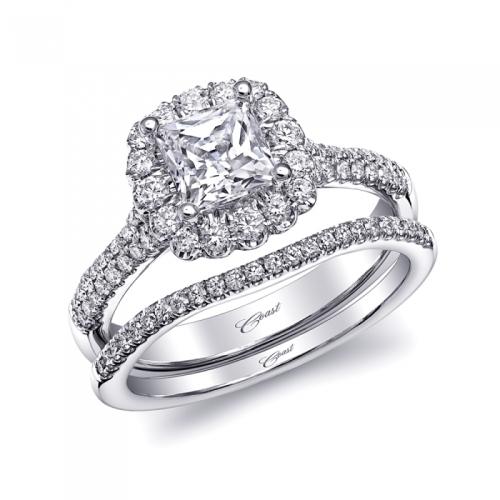 Coast Diamond Princess Halo Engagement Ring (LC10141)