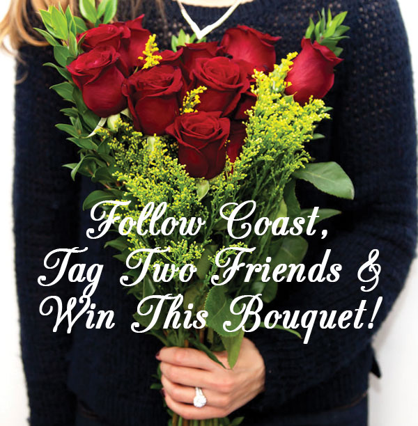 Follow Coast Diamond and Win a Rose Bouquet for Valentine's Day