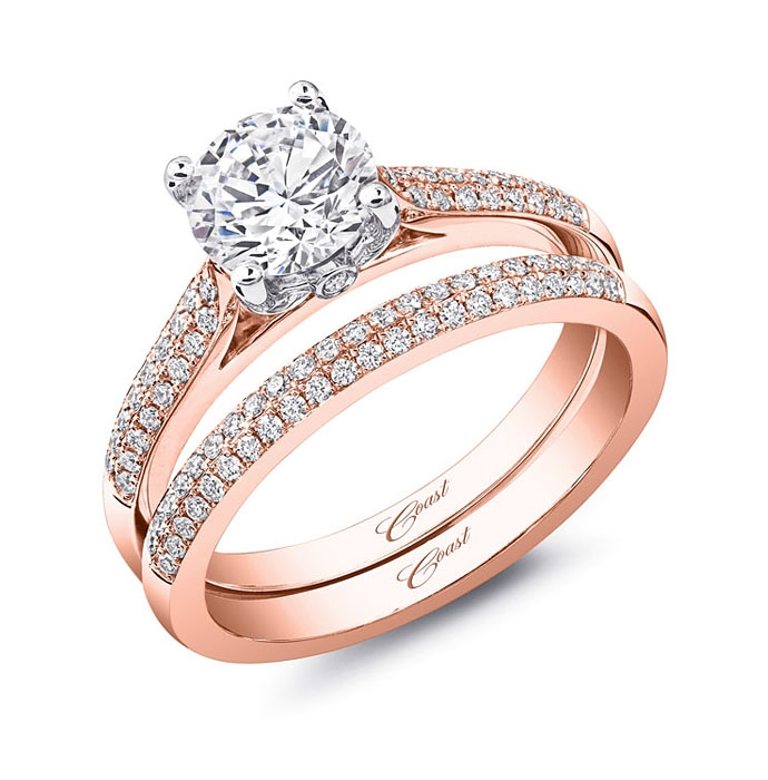 diamond engagement ring of the week rose gold halo engagement ring