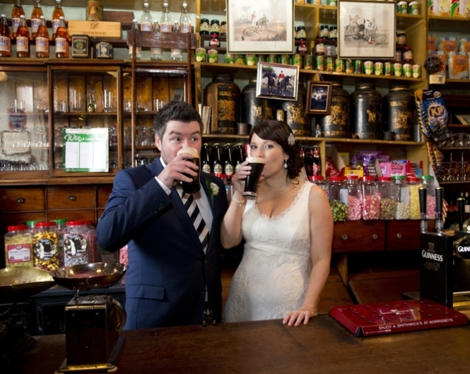 Toast Your Love with Guinness Irish Stout this St. Patrick's Day! (Photo courtesy WeddingsOnline.com)