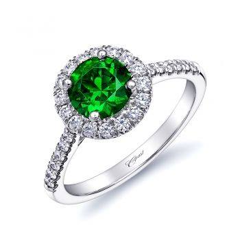 Coast-Diamond-Green-Garnet-Halo-Engagement-Ring-Costello-Jewelry-Company-St-Patricks-day