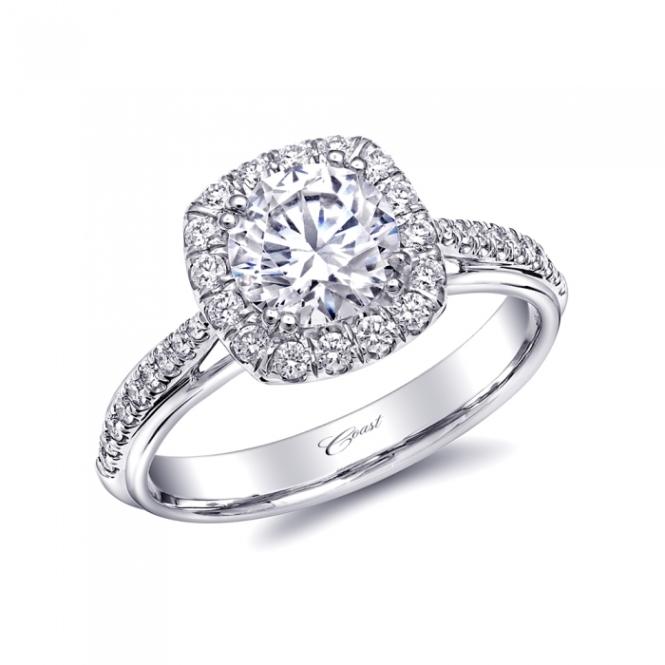 Coast Diamond Halo Engagement Ring (LC5356)