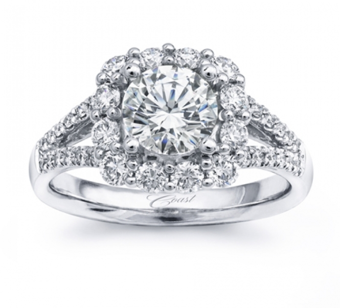 Coast Diamond Halo Engagement Ring at Windsor Jewelers
