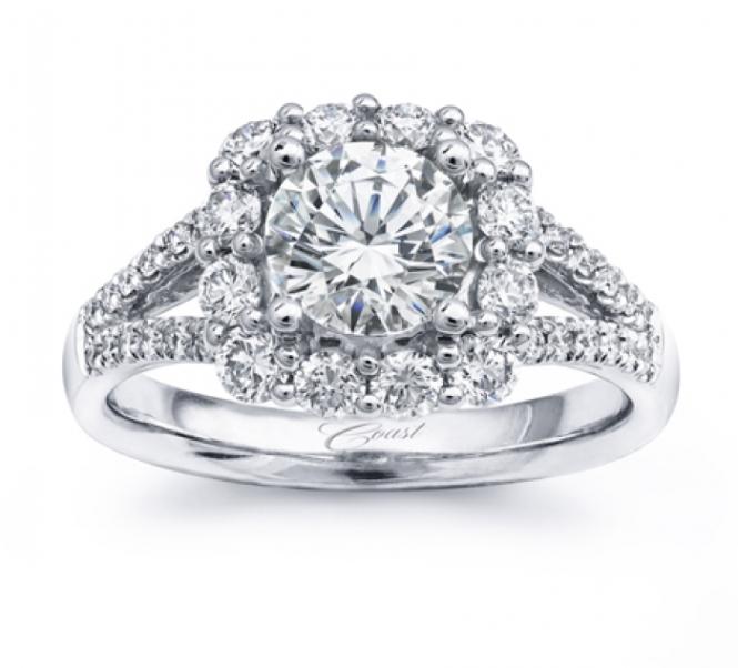 Coast Diamond Halo Engagement Ring at Windsor Jewelers