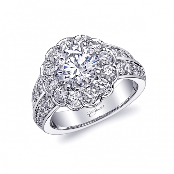 Coast Diamond 1.5 Carat Diamond and Platinum Engagement Ring