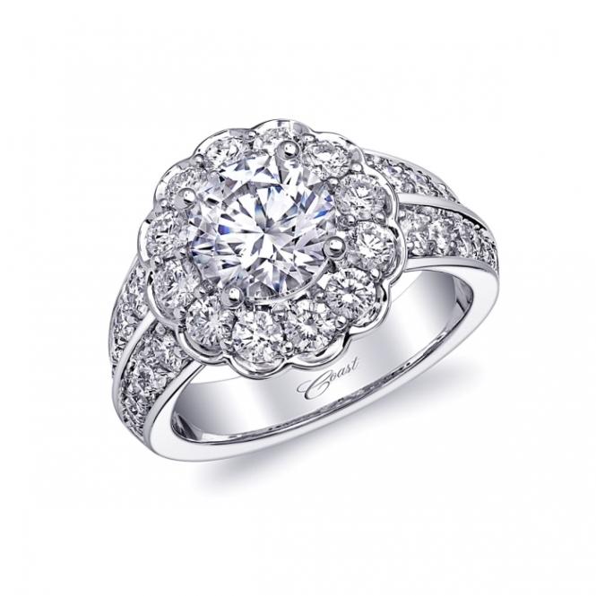 Coast Diamond 1.5 Carat Diamond and Platinum Engagement Ring