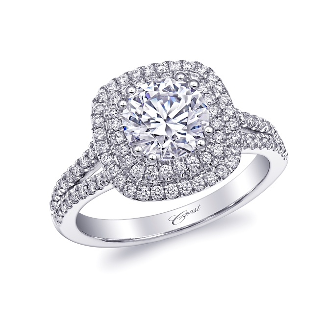 Diamond Connection: Coast Diamond Halo Engagement Ring (SKU LC10130)