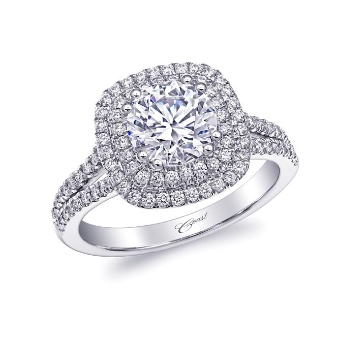 Diamond Connection: Coast Diamond Halo Engagement Ring (SKU LC10130)