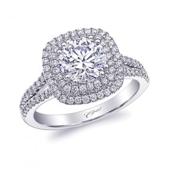 Coast Diamond Double Halo Engagement Ring with 1.25 Center Diamond (LC10130)